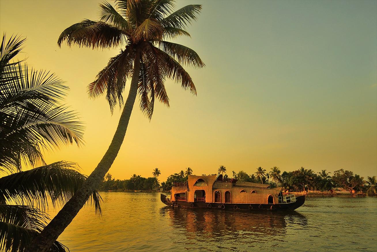 Kerala Back waters sunset