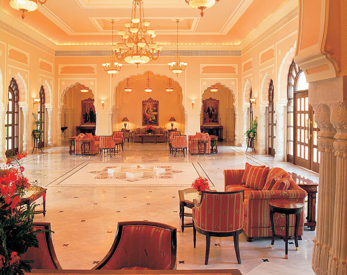 Rambagh Palace Jaipur - Rajasthan -Resplendent loby