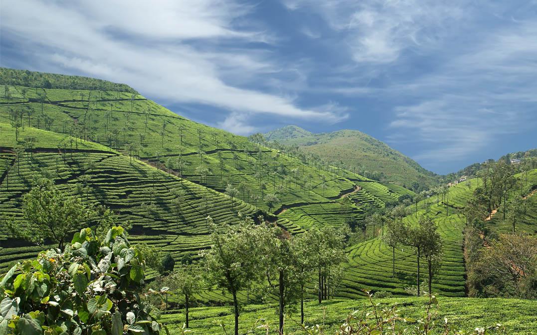 Geography - Kerala landscape mountains and lake